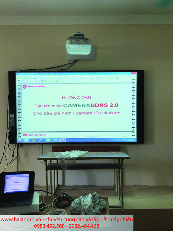 Lắp đặt hệ thống máy chiếu gần tại trường Đại học Giao Thông Vận Tải