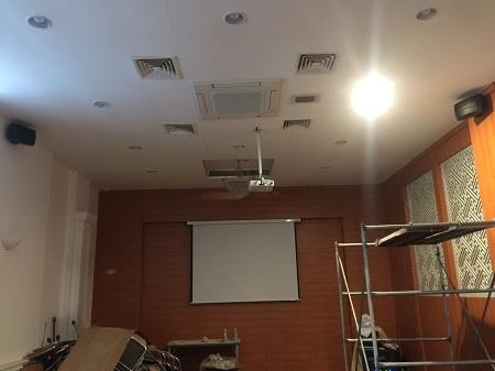 Lắp đặt máy chiếu ,âm thanh và camera  tại phòng họp BNI Hà Nội 06 ở CUNG HỮU NGHỊ VIỆT XÔ